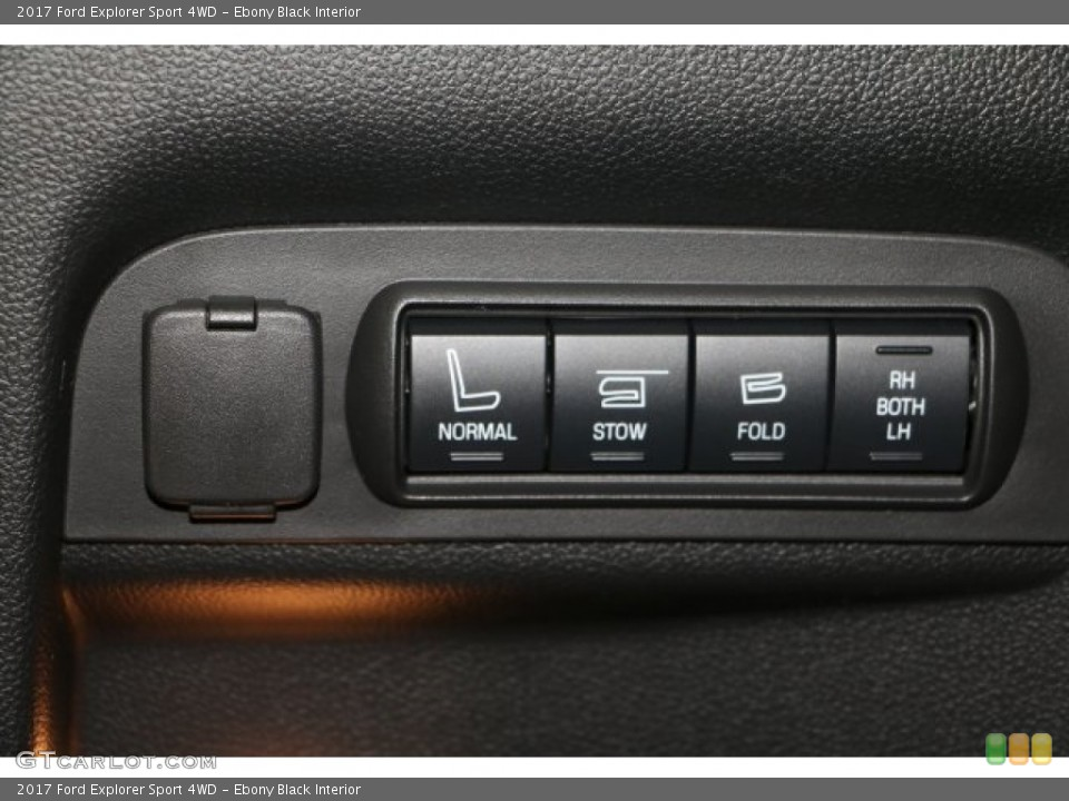 Ebony Black Interior Controls for the 2017 Ford Explorer Sport 4WD #113970736