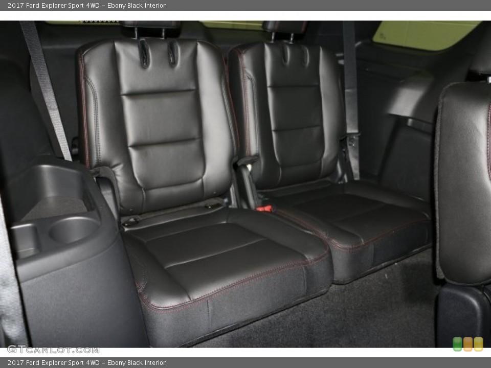Ebony Black Interior Rear Seat for the 2017 Ford Explorer Sport 4WD #113970835
