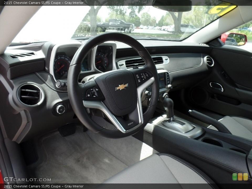 Gray 2015 Chevrolet Camaro Interiors