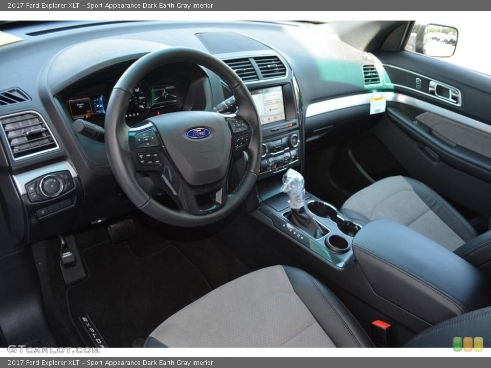 Sport Appearance Dark Earth Gray Interior Prime Interior for the 2017 Ford Explorer XLT #114196251