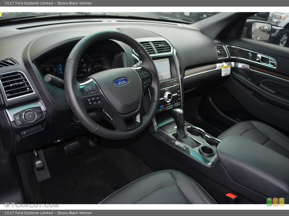 Ebony Black Interior Prime Interior for the 2017 Ford Explorer Limited #114218853
