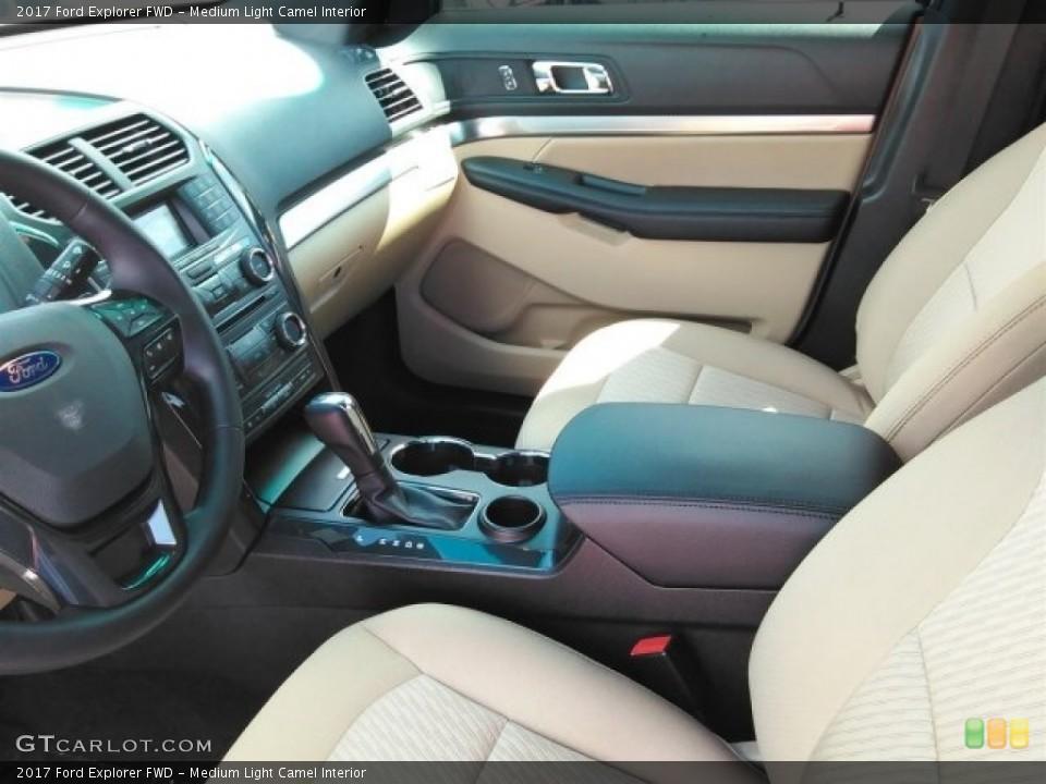 Medium Light Camel Interior Photo for the 2017 Ford Explorer FWD #114305742