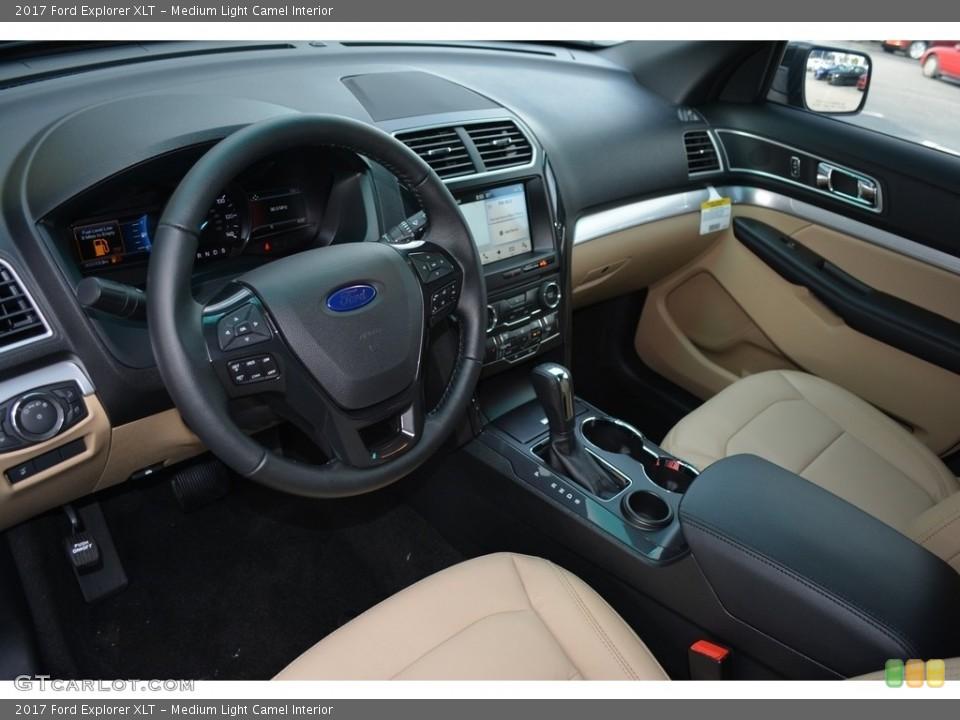 Medium Light Camel Interior Prime Interior for the 2017 Ford Explorer XLT #114348831