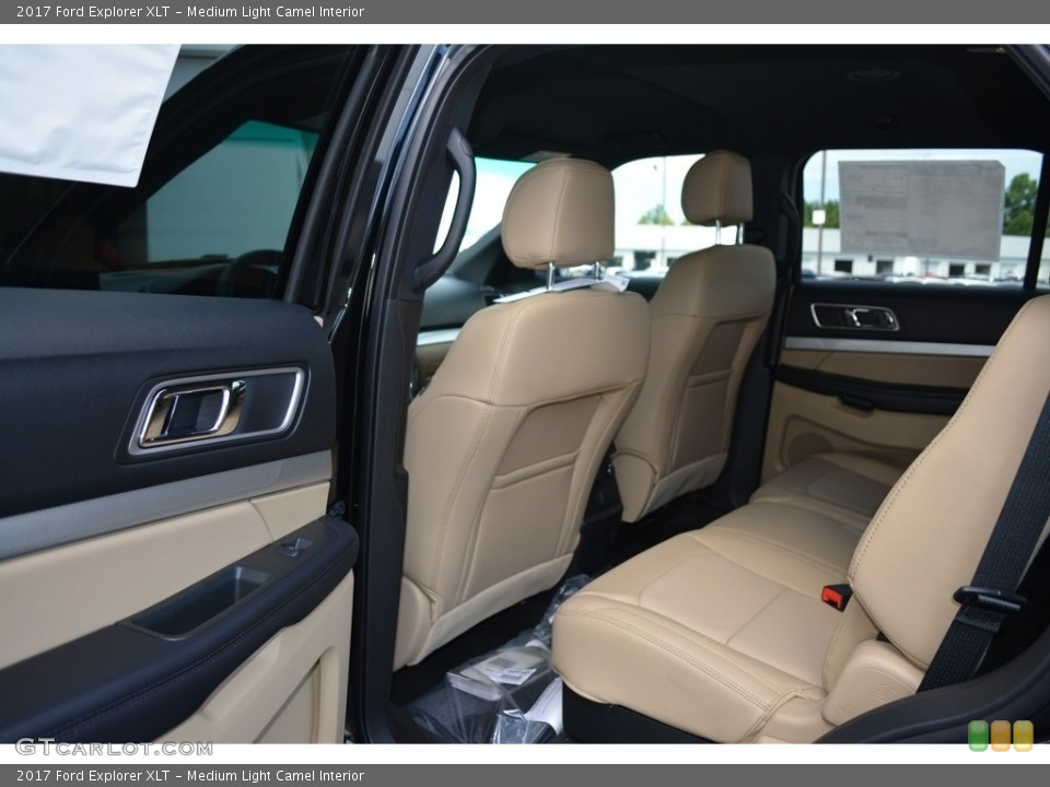 Medium Light Camel Interior Rear Seat for the 2017 Ford Explorer XLT #114348852