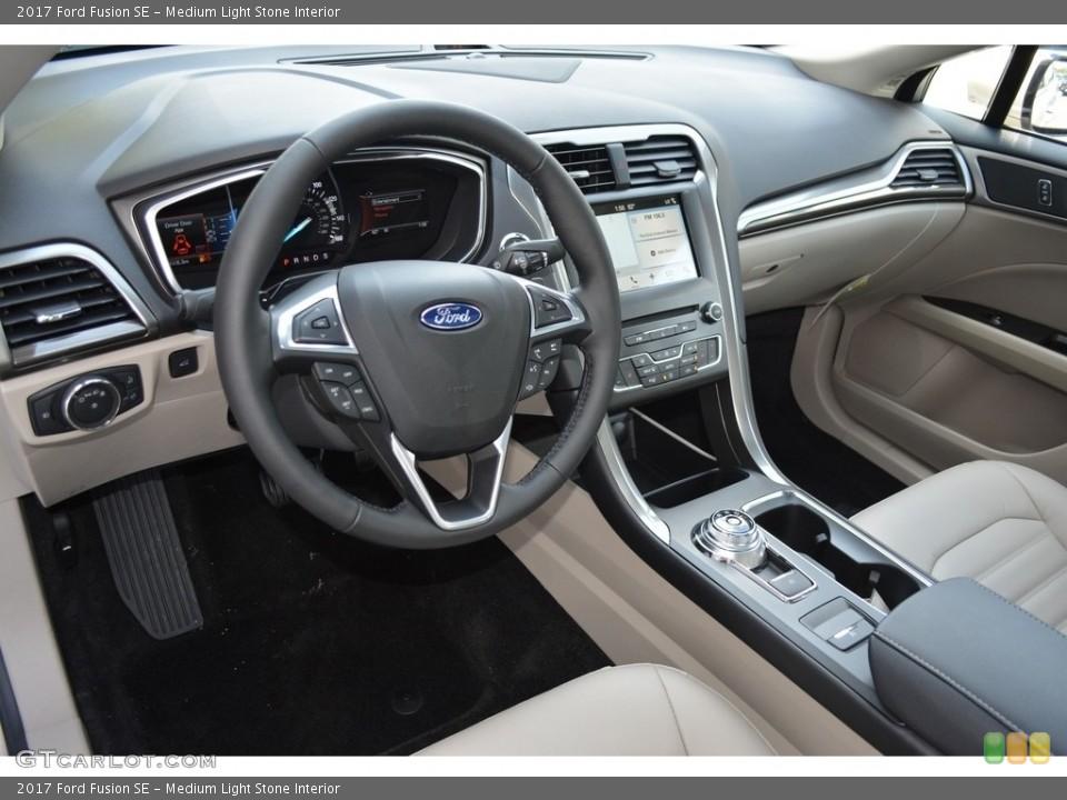 Medium Light Stone 2017 Ford Fusion Interiors