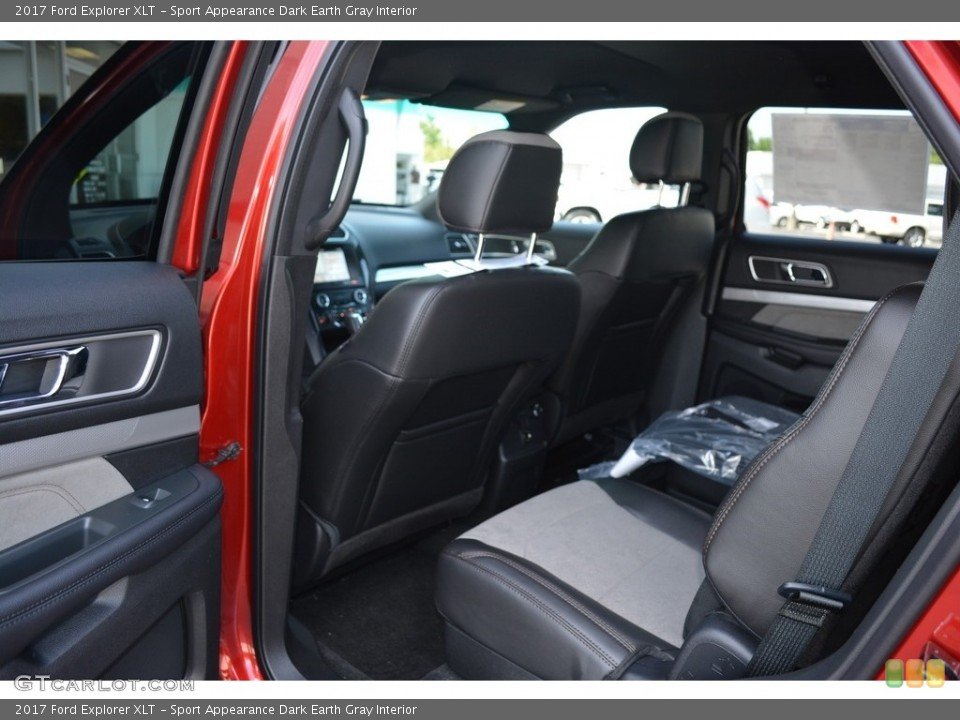 Sport Appearance Dark Earth Gray Interior Rear Seat for the 2017 Ford Explorer XLT #114423523