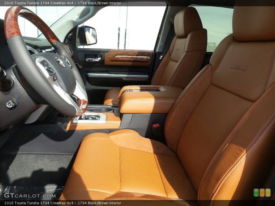 1794 Black/Brown Interior Photo for the 2016 Toyota Tundra 1794 CrewMax 4x4 #114985835