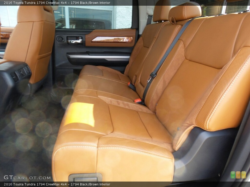 1794 Black/Brown Interior Rear Seat for the 2016 Toyota Tundra 1794 CrewMax 4x4 #114986267