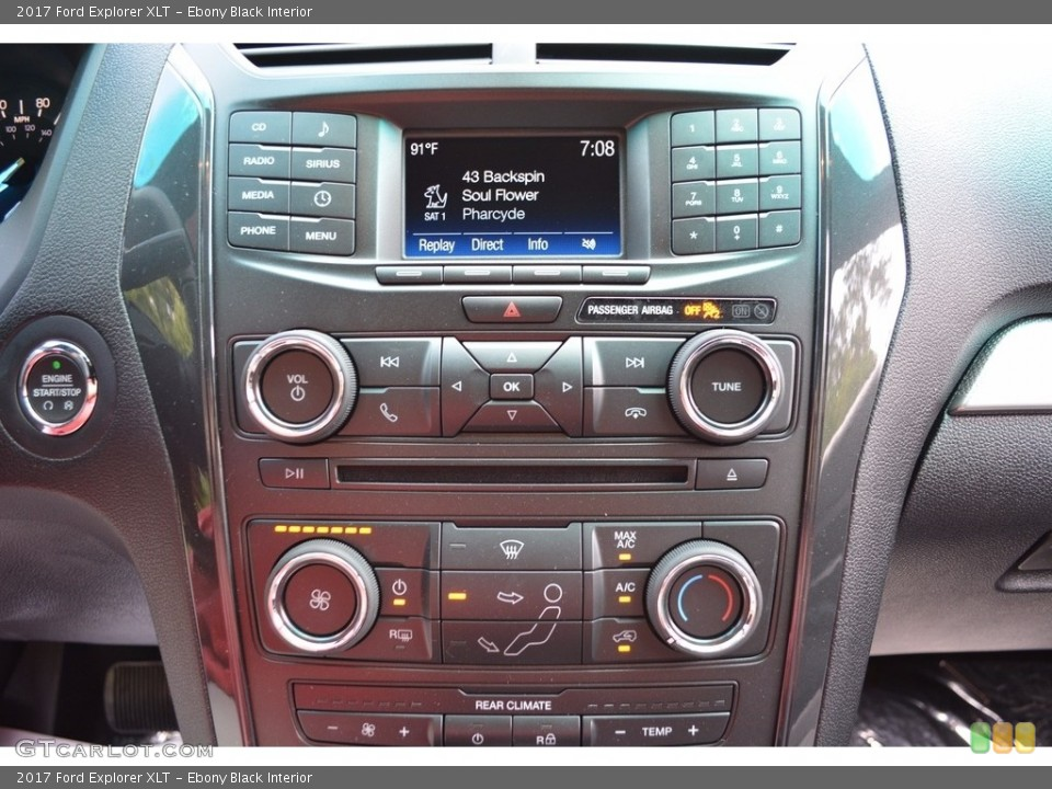 Ebony Black Interior Controls for the 2017 Ford Explorer XLT #115249750