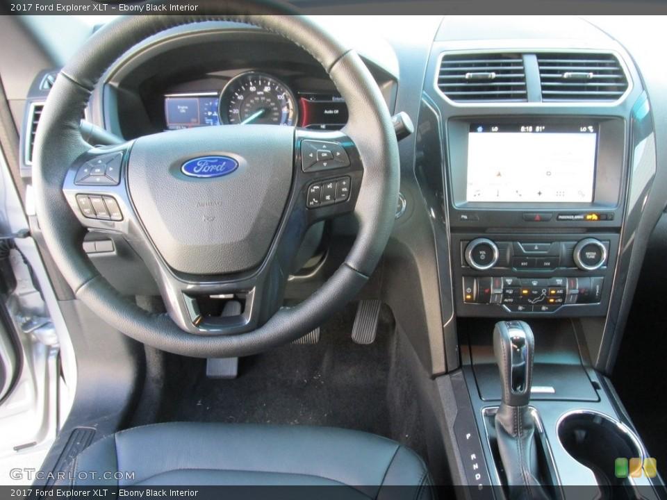 Ebony Black Interior Dashboard for the 2017 Ford Explorer XLT #115402587