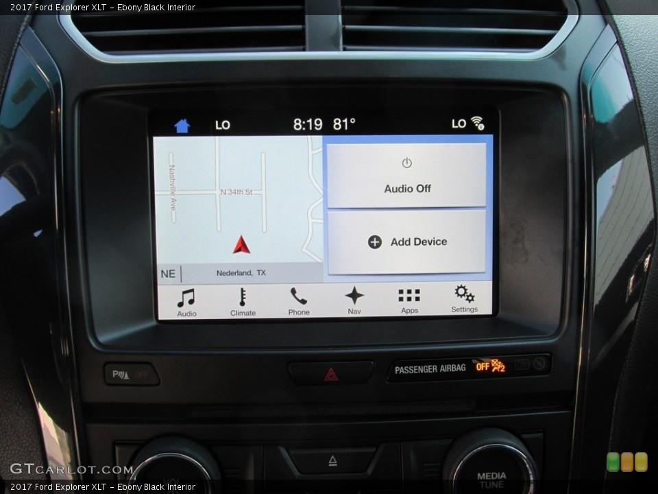 Ebony Black Interior Navigation for the 2017 Ford Explorer XLT #115402641