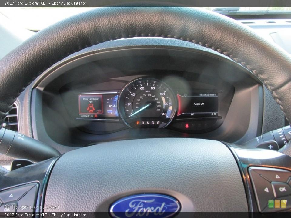 Ebony Black Interior Gauges for the 2017 Ford Explorer XLT #115402776
