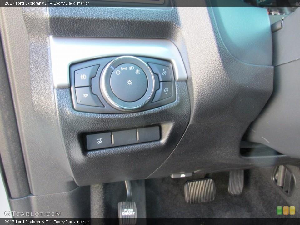 Ebony Black Interior Controls for the 2017 Ford Explorer XLT #115402806
