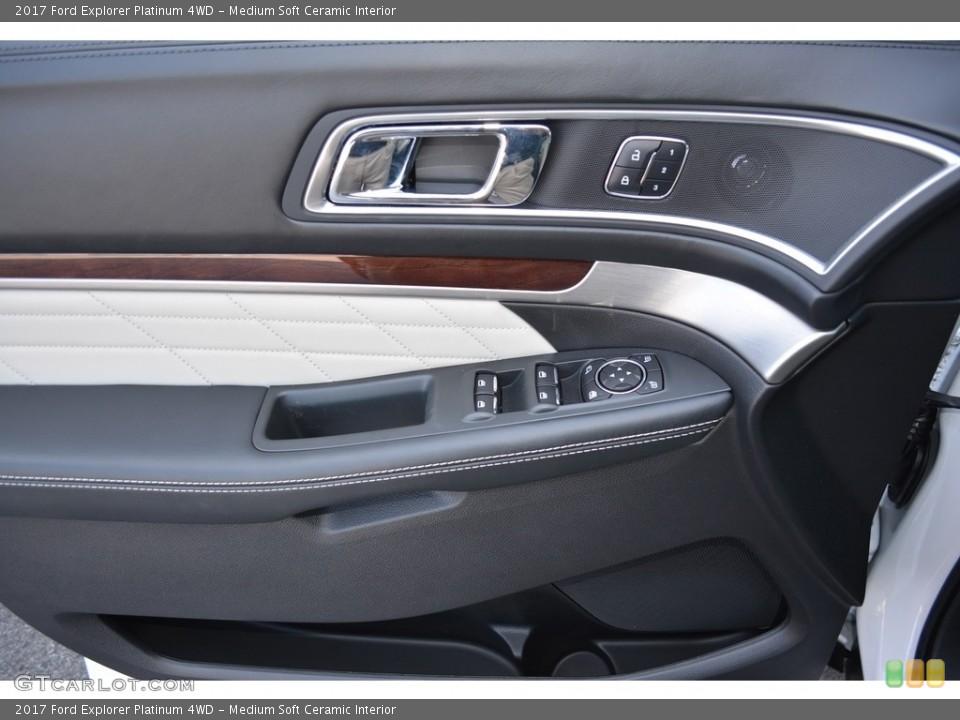 Medium Soft Ceramic Interior Door Panel for the 2017 Ford Explorer Platinum 4WD #115565018
