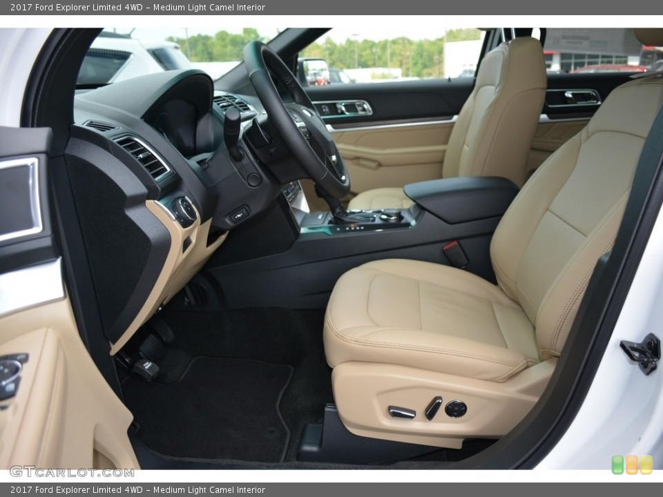 Medium Light Camel Interior Photo for the 2017 Ford Explorer Limited 4WD #115606228