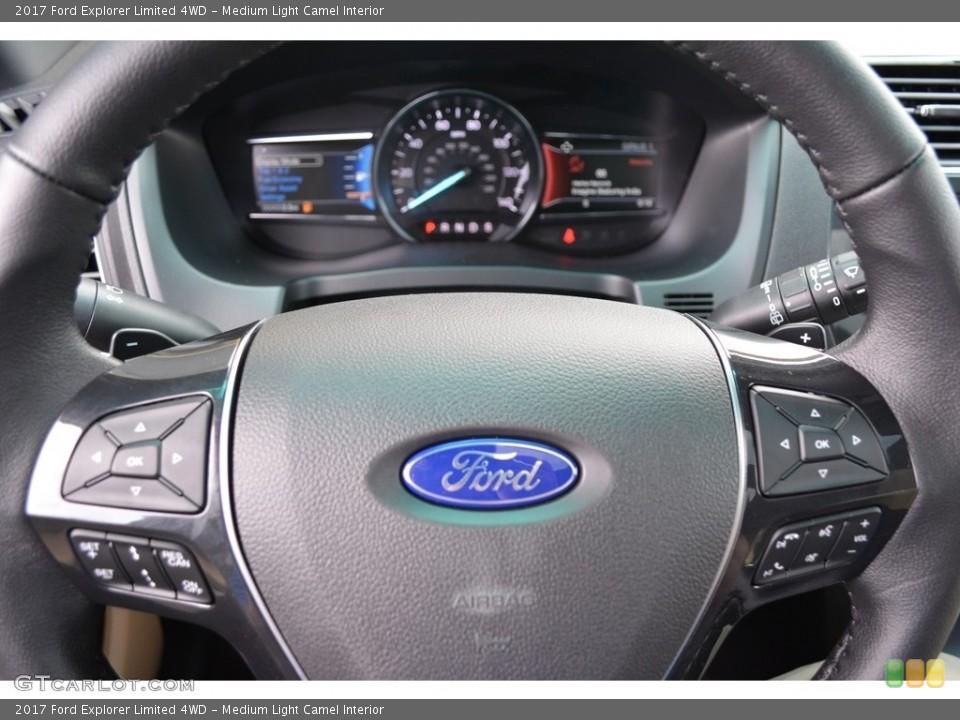 Medium Light Camel Interior Steering Wheel for the 2017 Ford Explorer Limited 4WD #115606495