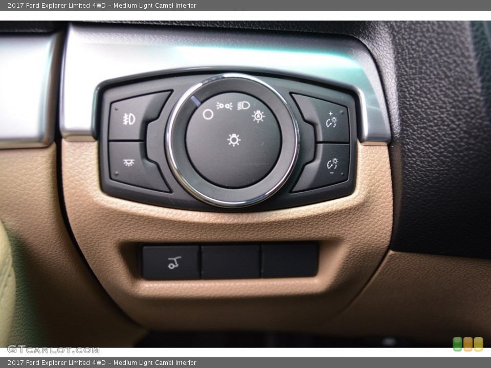 Medium Light Camel Interior Controls for the 2017 Ford Explorer Limited 4WD #115606510