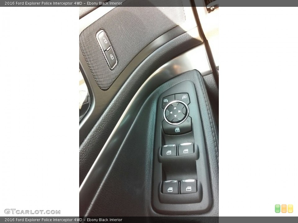 Ebony Black Interior Controls for the 2016 Ford Explorer Police Interceptor 4WD #115774025