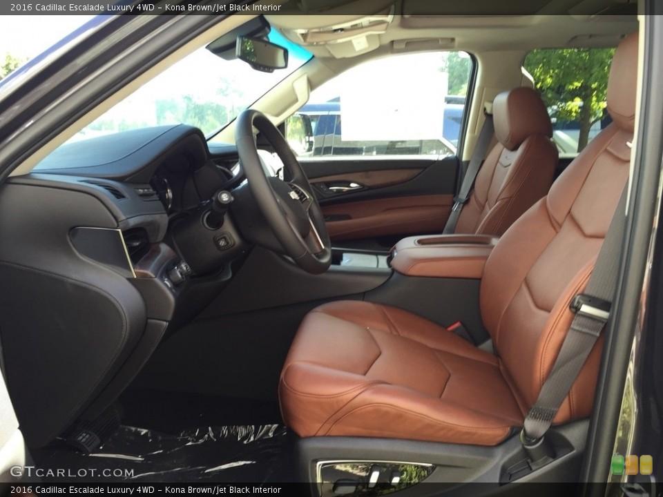 Kona Brown/Jet Black Interior Photo for the 2016 Cadillac Escalade Luxury 4WD #115785776