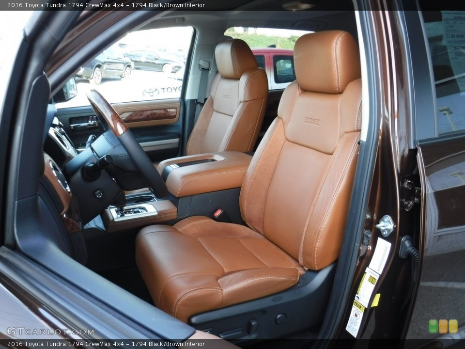 1794 Black/Brown Interior Front Seat for the 2016 Toyota Tundra 1794 CrewMax 4x4 #115934754