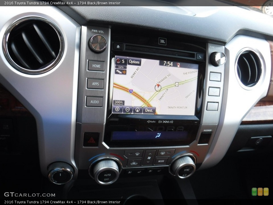 1794 Black/Brown Interior Navigation for the 2016 Toyota Tundra 1794 CrewMax 4x4 #115934868