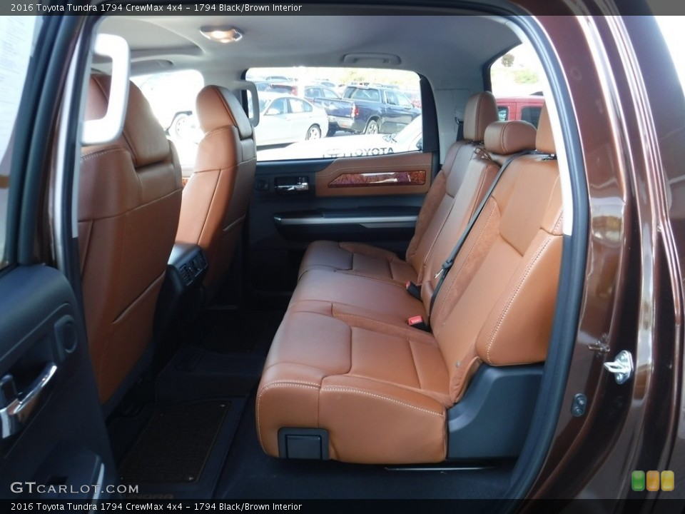 1794 Black/Brown Interior Rear Seat for the 2016 Toyota Tundra 1794 CrewMax 4x4 #115935013