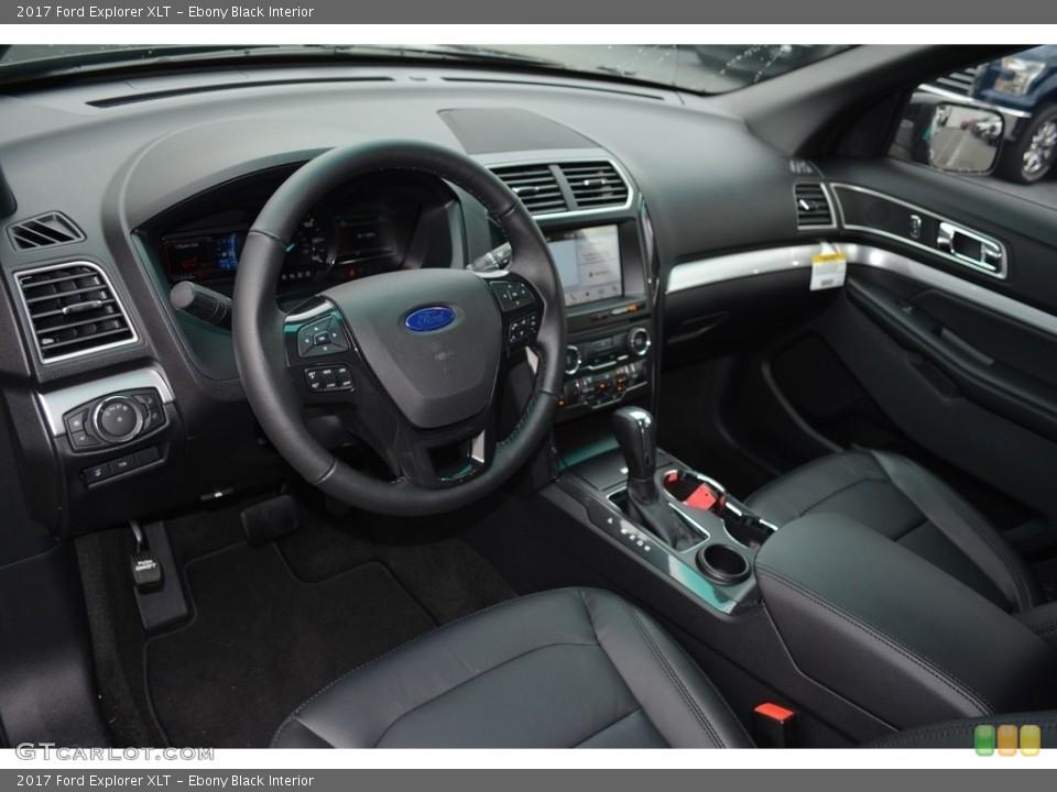 Ebony Black Interior Photo for the 2017 Ford Explorer XLT #115984661