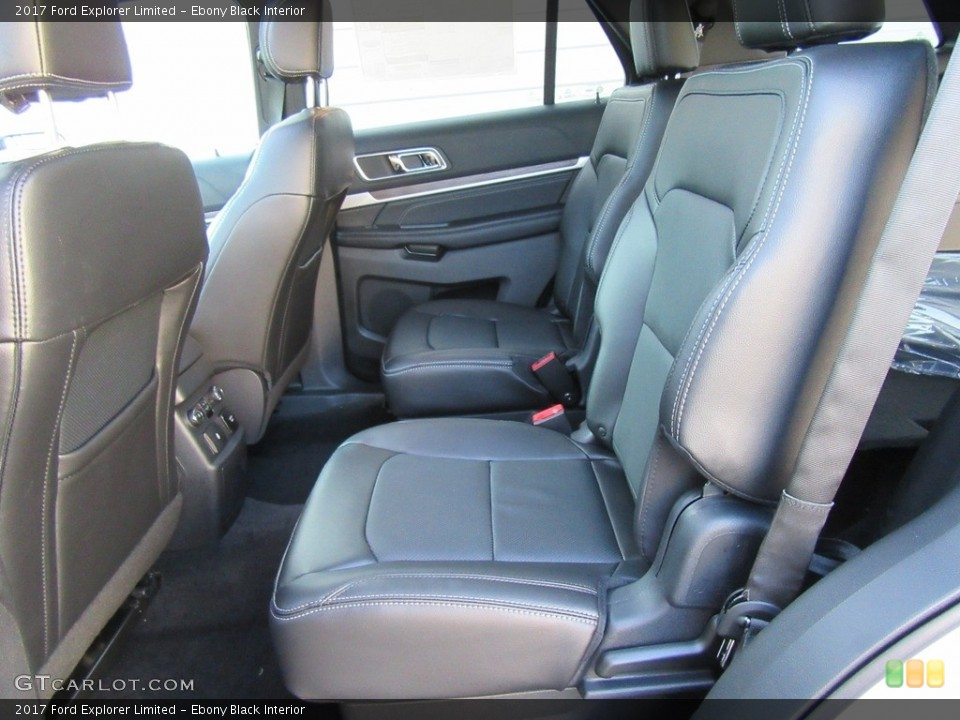 Ebony Black Interior Rear Seat for the 2017 Ford Explorer Limited #116140197