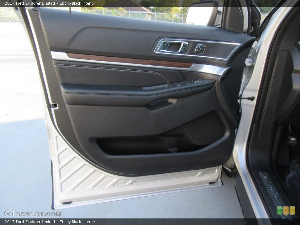 Ebony Black Interior Door Panel for the 2017 Ford Explorer Limited #116140223