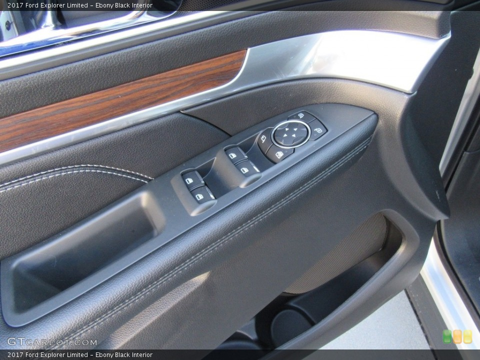 Ebony Black Interior Controls for the 2017 Ford Explorer Limited #116140250