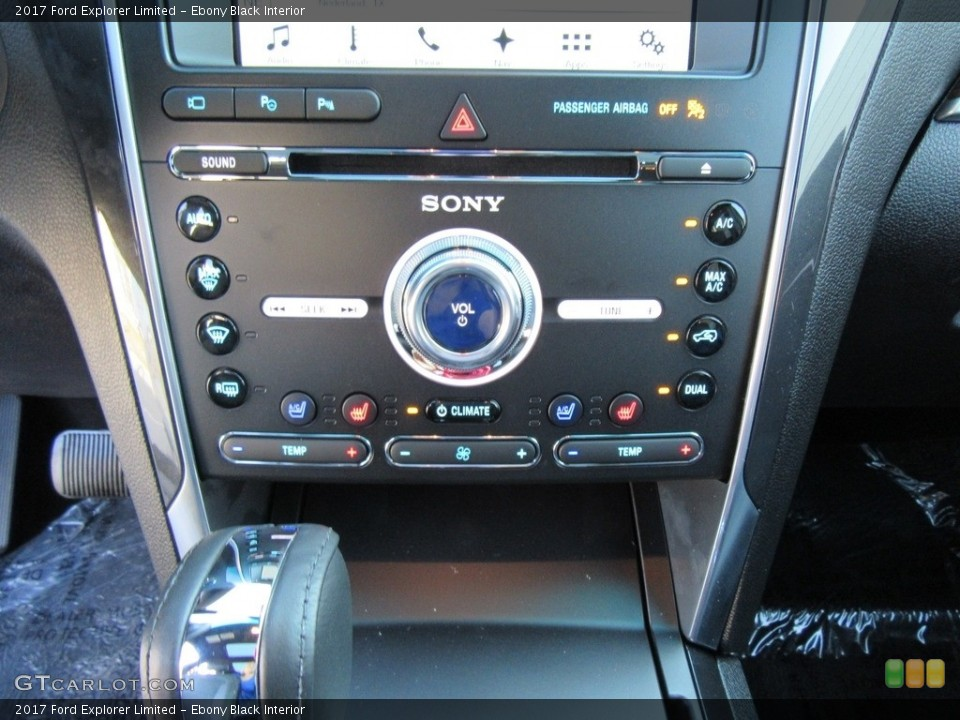 Ebony Black Interior Controls for the 2017 Ford Explorer Limited #116140418