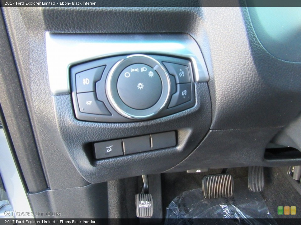 Ebony Black Interior Controls for the 2017 Ford Explorer Limited #116140556