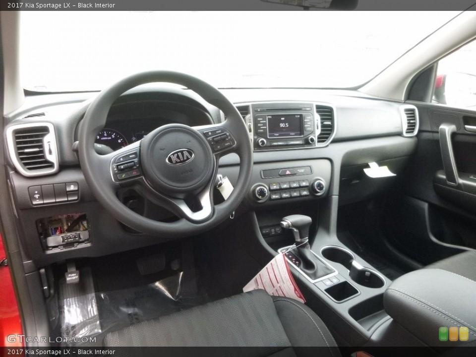 Black 2017 Kia Sportage Interiors