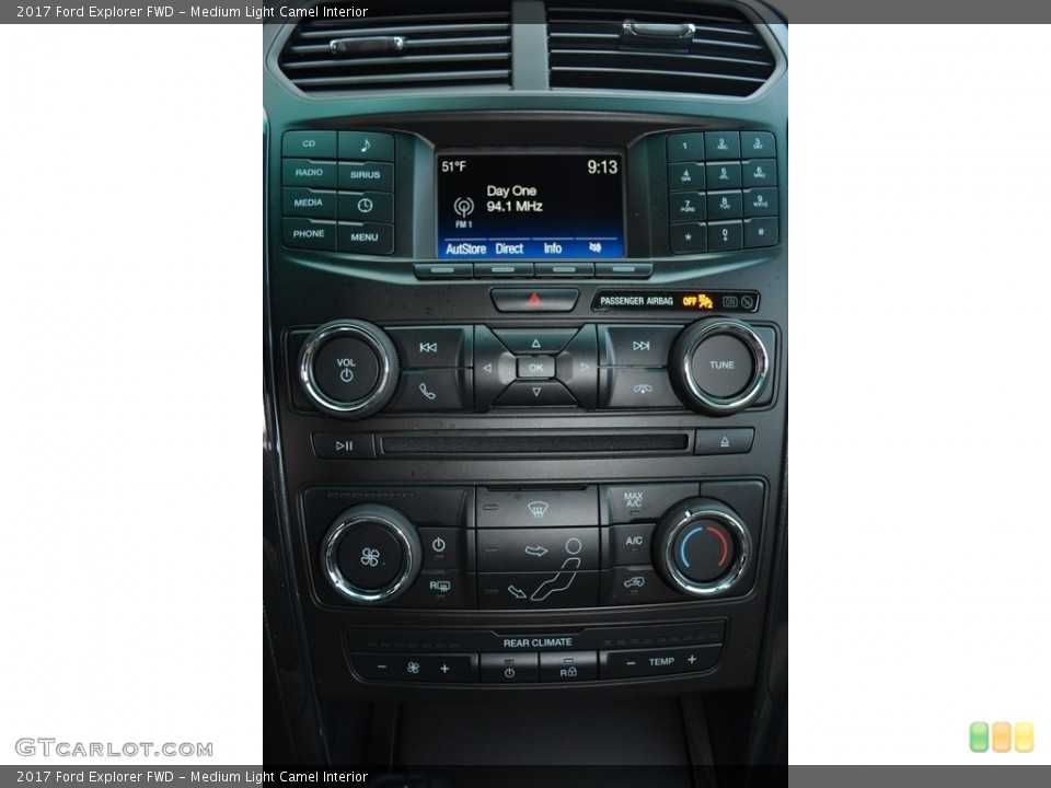 Medium Light Camel Interior Controls for the 2017 Ford Explorer FWD #117179016