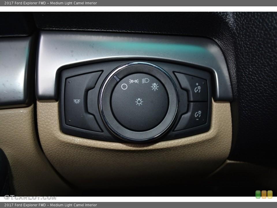 Medium Light Camel Interior Controls for the 2017 Ford Explorer FWD #117179157