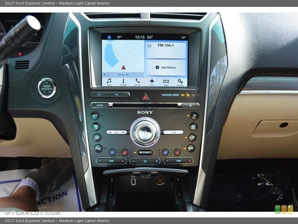 Medium Light Camel Interior Controls for the 2017 Ford Explorer Limited #117188740