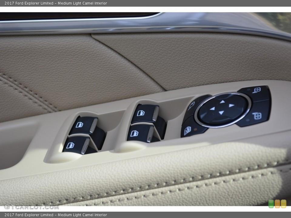 Medium Light Camel Interior Controls for the 2017 Ford Explorer Limited #117188836