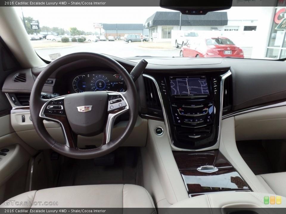 Shale/Cocoa Interior Dashboard for the 2016 Cadillac Escalade Luxury 4WD #117266143