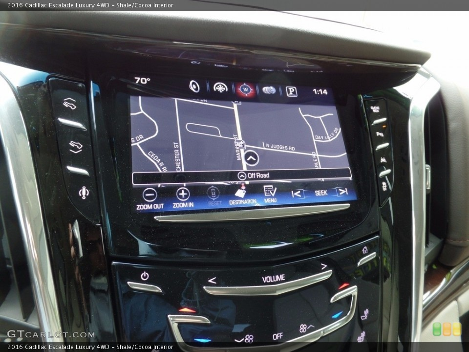 Shale/Cocoa Interior Navigation for the 2016 Cadillac Escalade Luxury 4WD #117266194