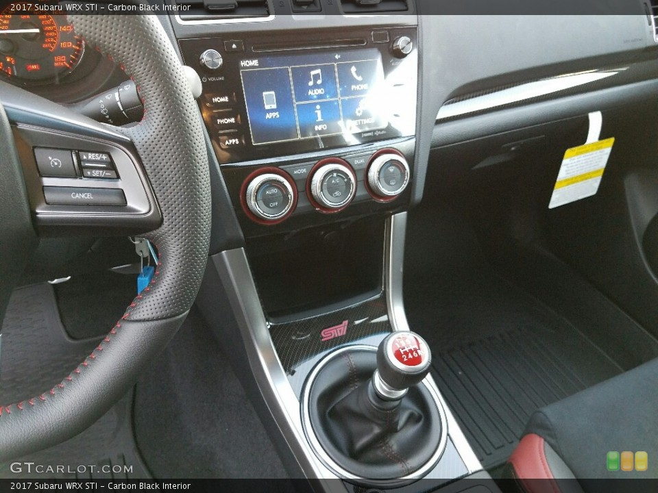Carbon Black Interior Transmission for the 2017 Subaru WRX STI #117346006