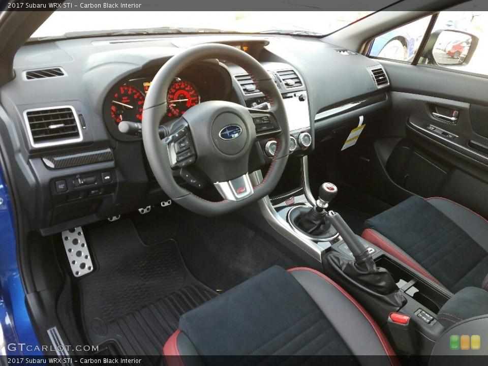 Carbon Black 2017 Subaru WRX Interiors