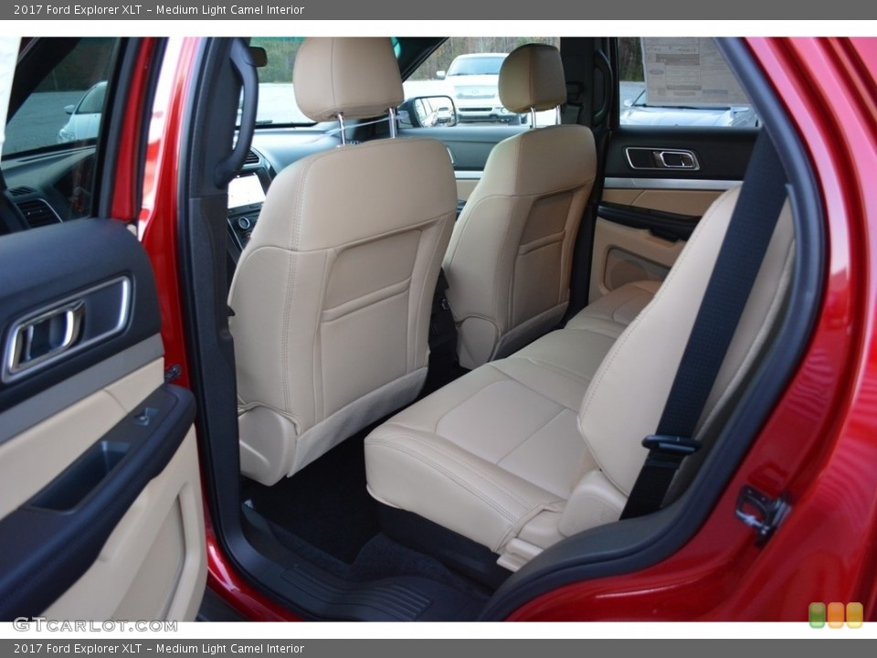 Medium Light Camel Interior Rear Seat for the 2017 Ford Explorer XLT #117492881