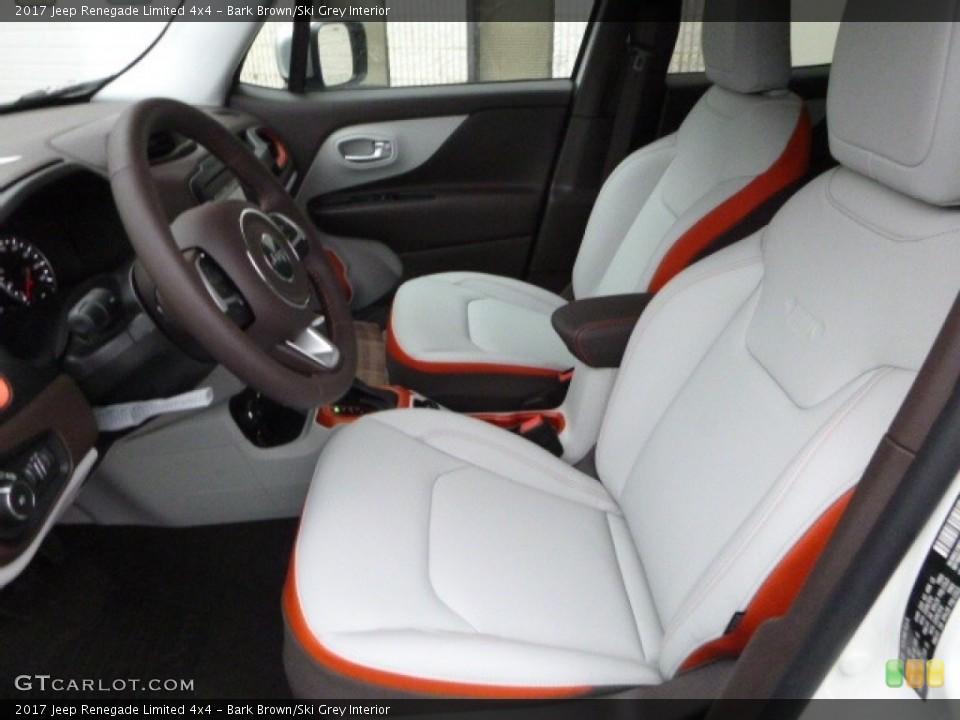 Bark Brown/Ski Grey 2017 Jeep Renegade Interiors