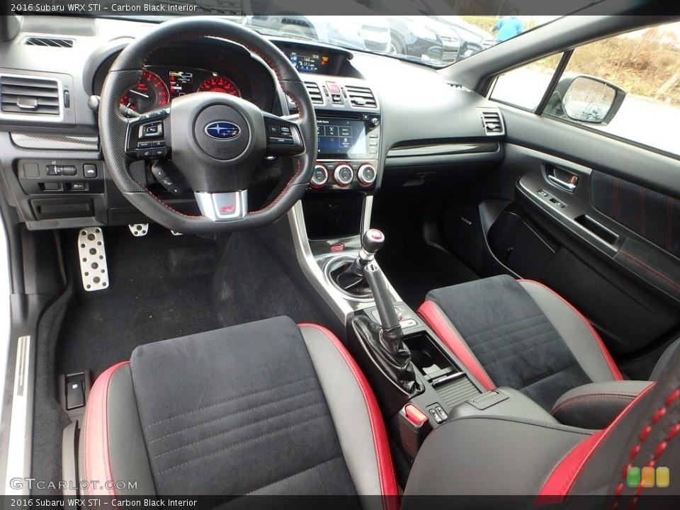 Carbon Black 2016 Subaru WRX Interiors