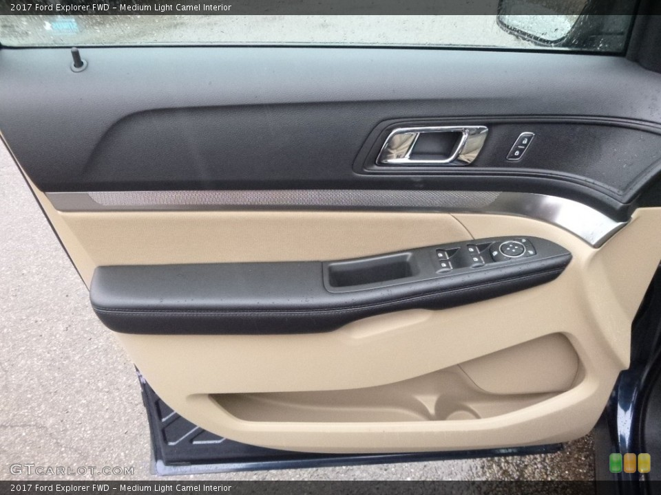Medium Light Camel Interior Door Panel for the 2017 Ford Explorer FWD #117894957