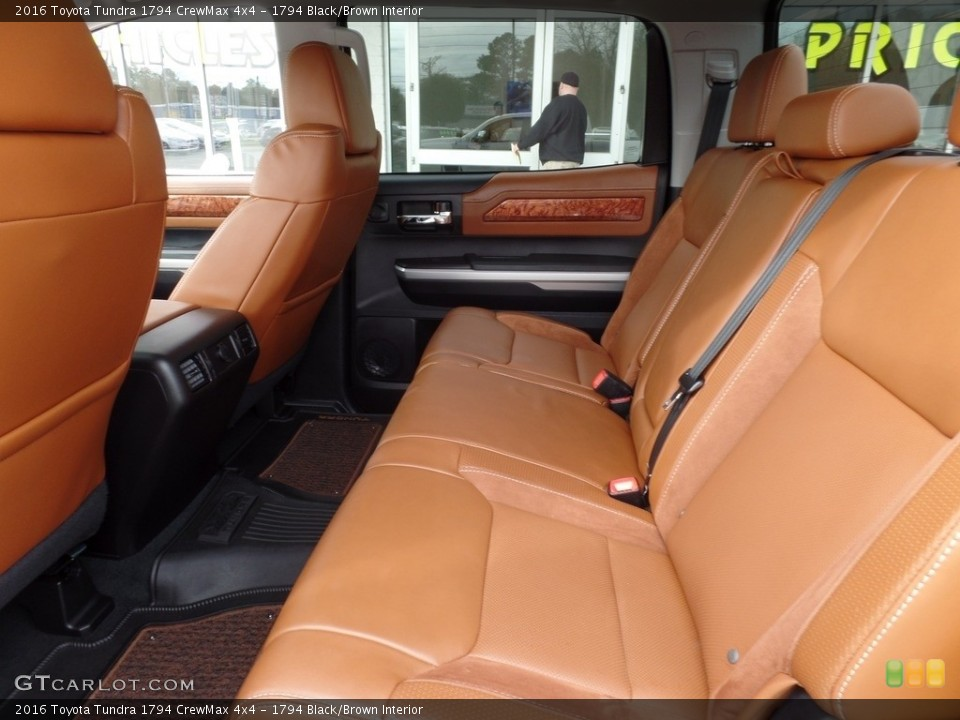1794 Black/Brown Interior Rear Seat for the 2016 Toyota Tundra 1794 CrewMax 4x4 #118015368