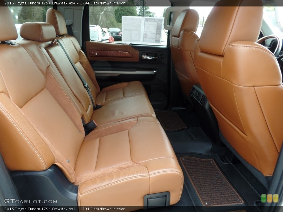 1794 Black/Brown Interior Rear Seat for the 2016 Toyota Tundra 1794 CrewMax 4x4 #118015425