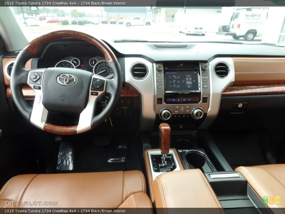 1794 Black/Brown Interior Dashboard for the 2016 Toyota Tundra 1794 CrewMax 4x4 #118015458