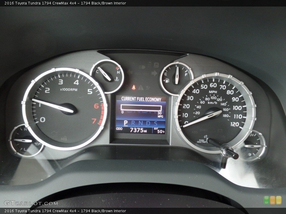 1794 Black/Brown Interior Gauges for the 2016 Toyota Tundra 1794 CrewMax 4x4 #118015488