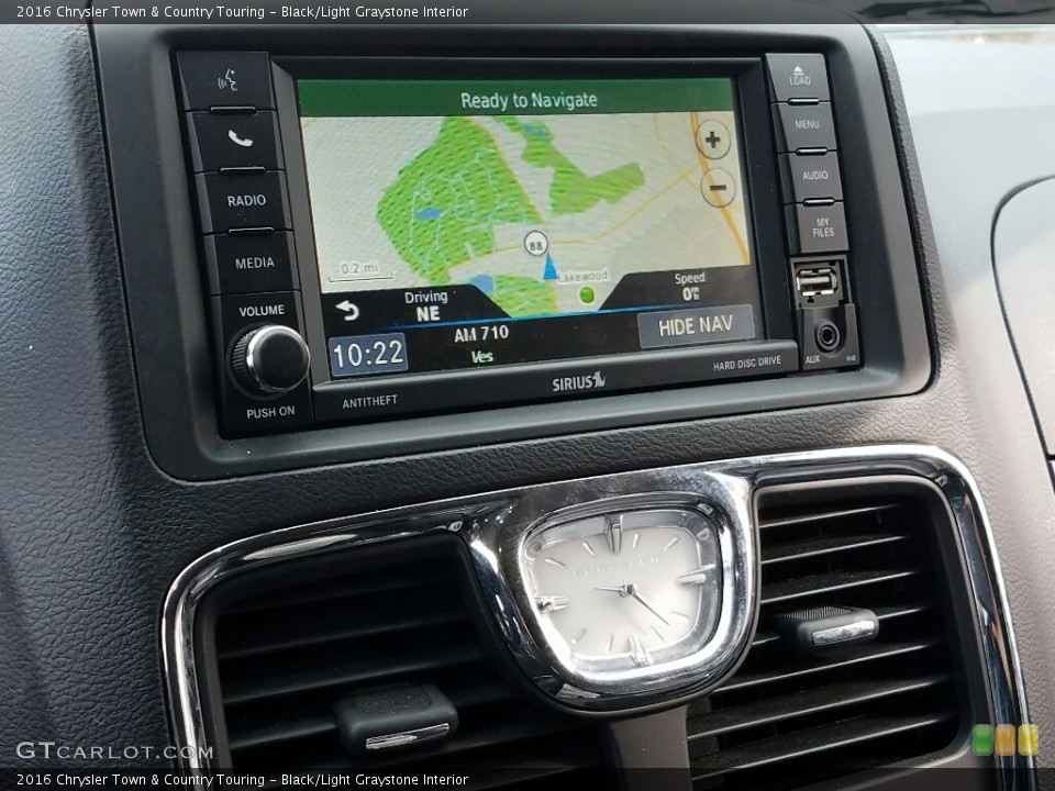 Black/Light Graystone Interior Navigation for the 2016 Chrysler Town & Country Touring #118600486